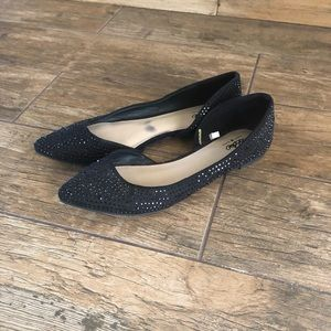 Gorgeous Black Bling Mossimo Dress Flats Shoes 8